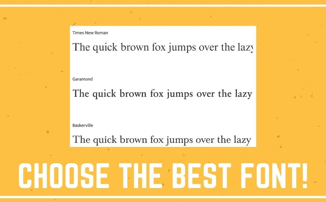 choose the best font